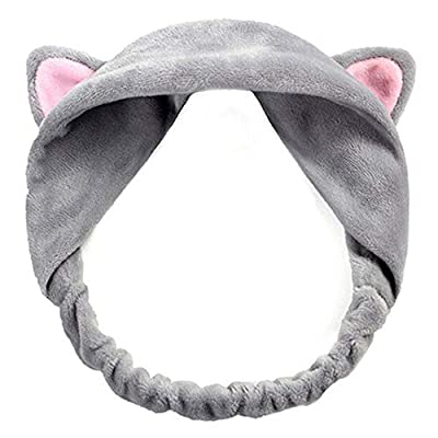 Cute Cat Ears Headband Hair Wear Makeup Shower Face Washing Hairband : everything 5 pounds (or less!)