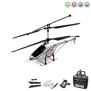 3.5 Kanal RC ferngesteuerter XL Hubschrauber mit HD-Kamera FPV-Kit für Live-Übertragung auf Ihr iPhone oder Android-Smartphone, Gyroscope und 2,4 GHz-Technik, Komplett-Set inkl. Crash-Kit, RTF