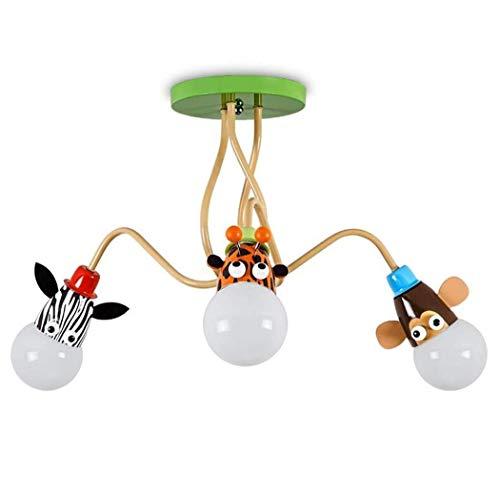 LED Tier Deckenleuchter Licht - Moderne kreative Cartoon Kinderzimmer Deckenleuchte, Unterputz Decken Anhänger - Hängeleuchten for Wohnzimmer Schlafzimmer, Dekoration Leuchte ( Color : 3 Lights ) -