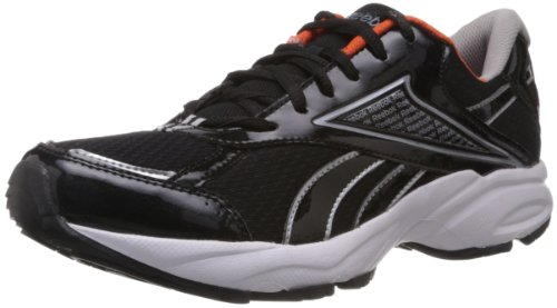 8. Reebok Men's Linea Lp Black and Silver Mesh Running Shoes