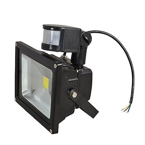 Xyd détecteur infrarouge LED Spotlight Etanche durable/clôture Mur Allée Garden Patio chemin terrasse lumière/améliorer la sécurité/faits pour Qualité facile extérieur Moderne 10W(TGD-10GY)
