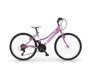 Mbm - District Woman 24'' Bicyclette Vélo Femme Mountain Bike Mtb Rose 18S