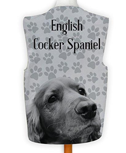 NEUHEIT Weste Kostüm Spass Legere Hirnrissig Hund Anzeigen Englisch Cocker Spaniel - Mehrfarbig, L -