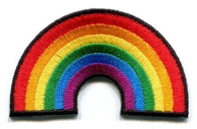 Gay pride lesbian rainbow flag retro love LGBT Appliques Hat Cap Polo Backpack Clothing Jacket Shirt DIY Embroidered Iron On / Sew On Patch by BKKPatch