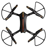 Virhuck RC Drone Pliable portable,2.4Ghz 720P HD WIFI Caméra ,FPV,Mode de Maintien en Altitude,sans tête Trajectoire vol Quadcopter, contrôlé par smartphone Commande vocale RC Drone - Noir
