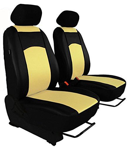 Autositzbezüge, Sitzbezüge Set, BUS 1+1 in ECO-Leder passend für BUS in diesem Angeboten BEIGE (In 7 Farben bei anderen Angeboten erhältlich) . Sitzbezug Fahrersitz + Beifahrersitz + 2 Kopfstützen