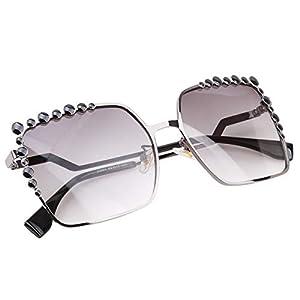 EJY Frauen Square Sonnenbrille Verlaufslinse Weiblich Brillen