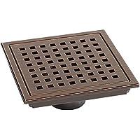 YONG Drenaje del Piso del Baño - Drenaje Cuadrado de Ducha para Doble Uso - Drenaje de Ducha de Latón para WC Lavabo Jardín 15 * 15 cm
