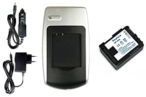 Chargeur + Batterie BP-808 pour Canon LEGRIA HF M46, HF M300, HF M306, HF M400