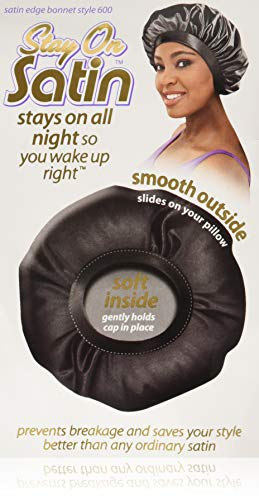 Cristina Stay On Satin Nites Bonnet Sleep Cap #600 by SATIN Cristina Satin