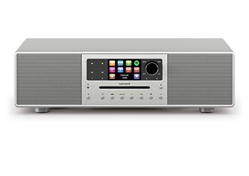 Meisterstück by sonoro - Performance pur - Kompaktanlage mit Internetradio, Multiroom, Digitalradio, Spotify Connect, Wlan (Silber)