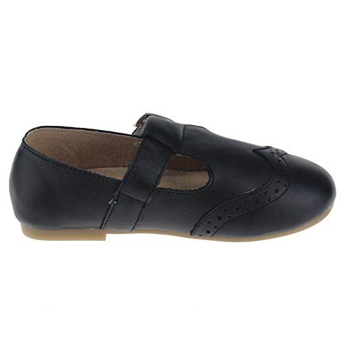 maxu filles T- Sangle Mary Jane Chaussures École robe à plat Noir