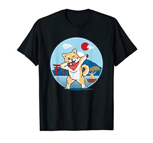 Akita coole Hund Dab Pose Tanz Japan T-Shirt Geschenkidee -