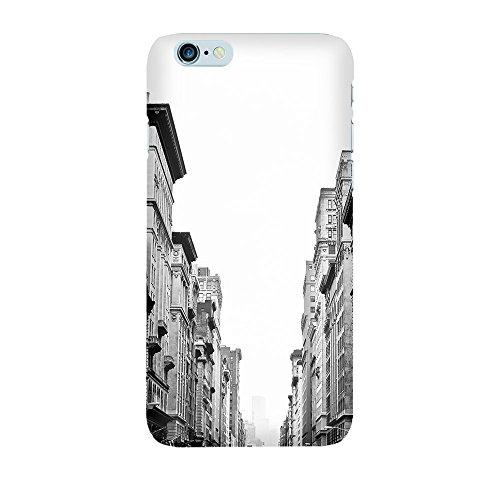 """artboxONE Handyhülle Apple iPhone 5, schwarz Hard-Case Handyhülle """"Häuserreihe Case"""" - Städte / New York - Smartphone Case mit Kunstdruck hochwertiges Handycover von artboxONE Edition Premium Case"""