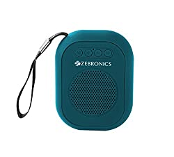 Zebronics ZEB-SAGA Ultra Portable bluetooth wireless speaker with built in FM/ call function (Blue)