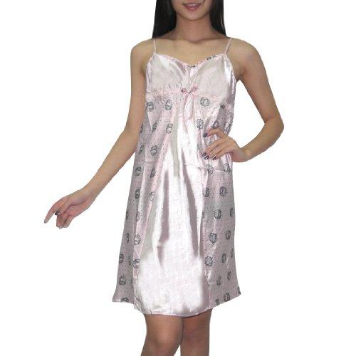 Superbe robe de nuit de soie Couture Femmes / Nightgown pink