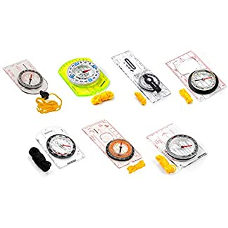 Compass For Map Reading And Navigation Expedition Orienteering Survival Mountaineering Exploring Or Hiking Fully Waterproof Ready Compact Ruler Measure Degrees Magnifier Lens Camping Trekking 7