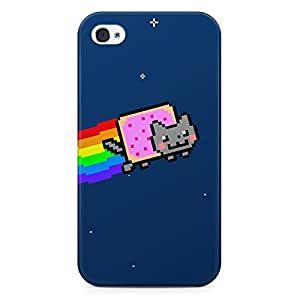 Nyan Cat Hard Plastic Snap Case Cover For Iphone 4 / 4s Coque Housse Etui