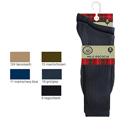 carlomagno-pack-2-pares-calcetines-caballero-519-2-canale-color-negro