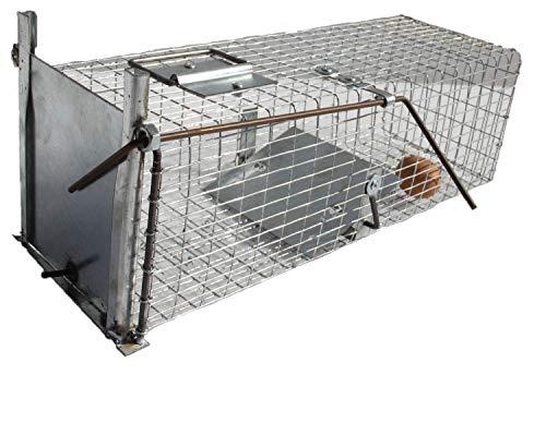 TRAPGALLIER piège Cage Capture 50x18x18 galvanisée Petits Animaux Style Rats. Fabrication Française.