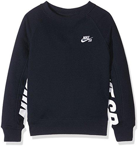 Nike SB Everett Graphic Crew Fleece, Felpa Bambino, Blu (Obsidian), Large (Taglia Produttore: 12-13Y)