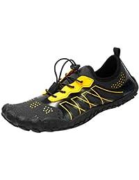 29b5f5c3fd545 POLP Zapatos de Agua de Secado rápido para Hombre Mujer Piscina de Playa  Zapatillas con cordón