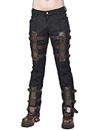 Aderlass Steampunk Pants Brocade Black