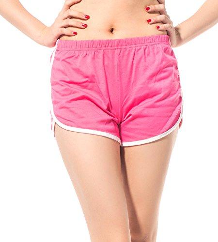 DODOING Damen Shorts Kurze Hosen Sport Shorts Yoga Fitness Running Hot pants Yogahose Sporthose Trainingshose Jogginhose Pants Stretch Short - Xl Lacrosse Shorts