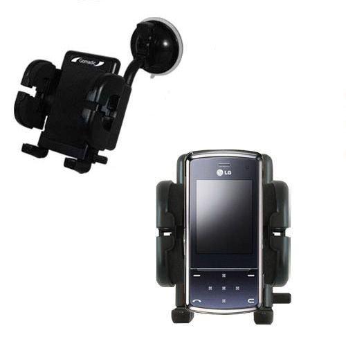 LG KF510 / KF-510 Windschutzscheibenhalterung für KFZ / Auto - Cradle-Halter mit flexibler Saughalterung für Fahrzeuge