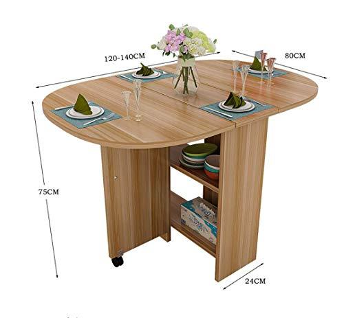 HONGHUIYU Tavolo Pieghevole Piano-Permanente scrivania Cucina Tavolo da  Pranzo-scalabile Tavolo Circolare Cabinet Combinazione Vernice scrivania ...