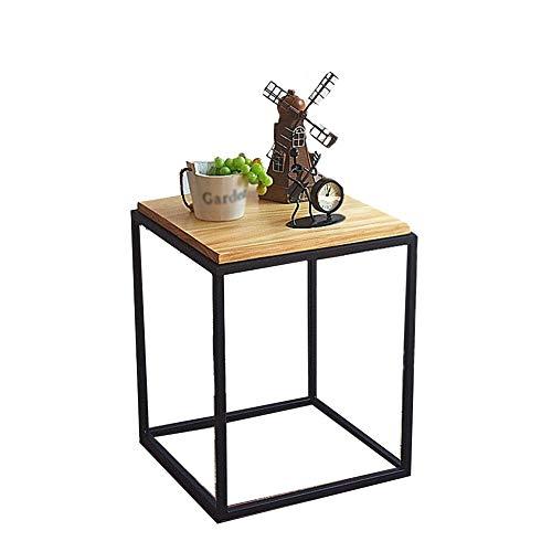 16 Einfache Moderne Ecktisch Mini Nachttisch Massivholz mobilen Balkon Tischchen (Color : Natural) ()