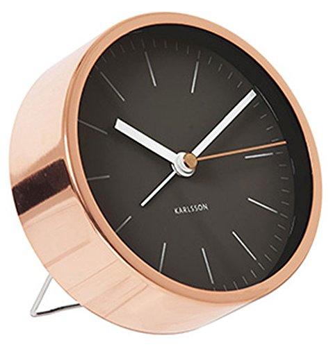 Present Time Karlsson Minimal Wecker, Kupfer Negro cobre
