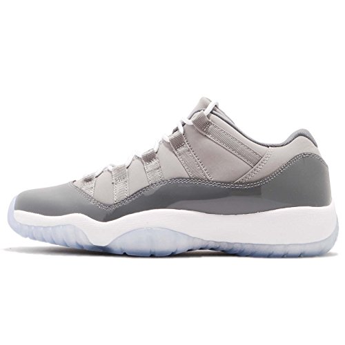 AIR JORDAN 11 Retro Low BG (GS) 'COOL Grey' - 528896-003 - Size 6.5Y-US & 39-EU