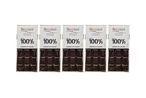 Set 5 Tavolette 100% Massa di Cacao - 450 g, Beppiani – Cioccolato Artigianale