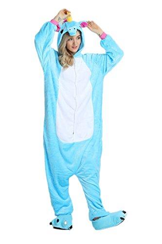 Pyjama Licorne Adulte Unisexe Unicorne Animaux Cosplay Aminal Pyjamas Combinaison Kigurumi Halloween Déguisement Costume Ensemble Cadeau Noël Anniversaire Fête - BienBien