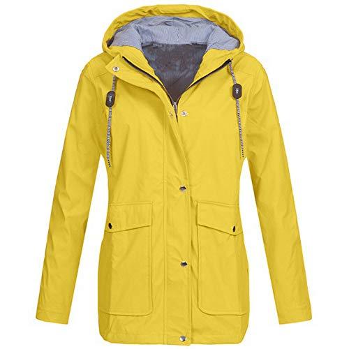 bequem Solide Regenjacke Outdoor Jacken Wasserdicht mit Kapuze Regenmantel Winddicht Parka Coat ()