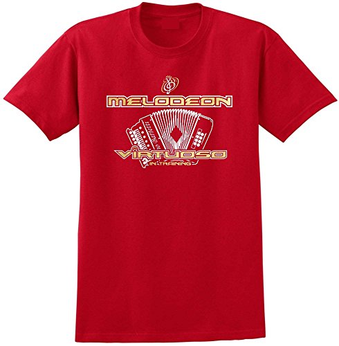 Melodeon Virtuoso - Red Rot T Shirt Größe 87cm 36in Small MusicaliTee