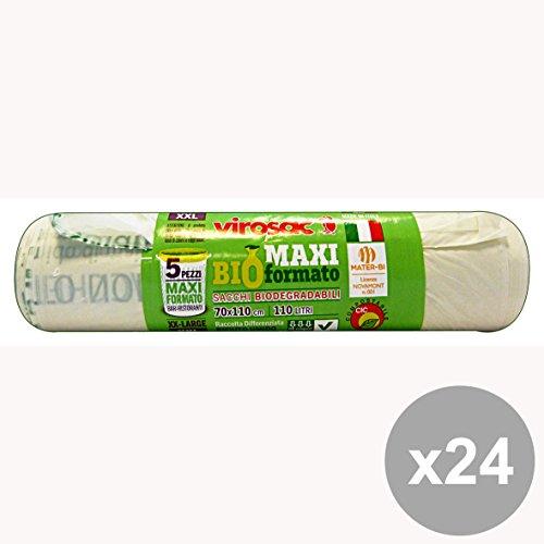 Set di 24 VIROSAC Sacchi Bio 70x110 * 5 Pezzi Riordino