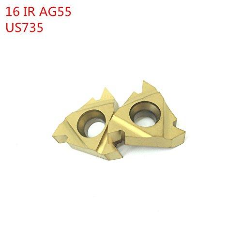 10pcs 16ir ag55 us735 faden drehwerkzeuge carbide fügt schneidwerkzeug - cnc - werkzeug - tools 16irag55 ende - beilagen dreher (Mini Drehbank-schneidwerkzeuge)