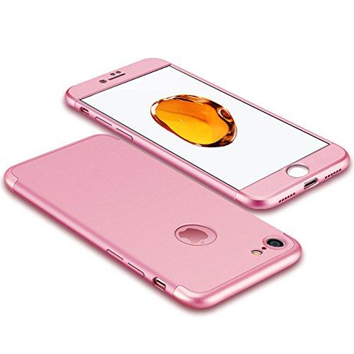 Luxus-dünner 3 in 1 Hybrid-Rüstung Hard Case für Apple iPhone 6 plus / 6s plus voller Körper 360 Grad-Schutz-rückseitige Abdeckungs-Fall Rose gold (Fällen Iphone Hybrid-rüstung 6)