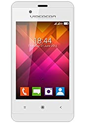 Videocon Zest V35CB Android 4.4.2 KitKat 3.5 inch Display 256 MB RAM and 512 MB Internal Memory Dual Camera Dual SIM (GSM + GSM) G-sensor P-sensor EDGE (White and Silver)