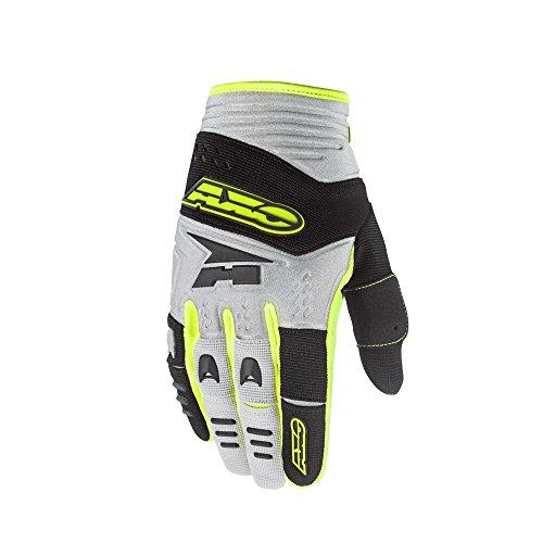 AXO Padlock Handschuhe, Grau/Schwarz/Gelb, M