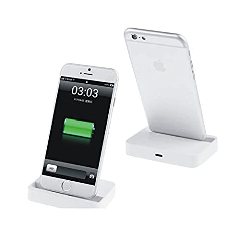White iPhone 5 dock docking cradle station for charging and sync