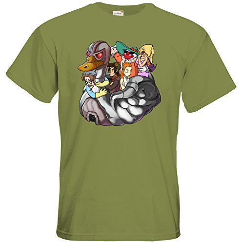 getshirts - Daedalic Official Merchandise - T-Shirt - Deponia Doomsday - Swan Green Moss