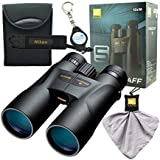 Nikon 7573 PROSTAFF 5 12X50mm Binocular Bundle with Nikon Micro Fiber Cleaning Cloth and Lumintrail Keychain Light