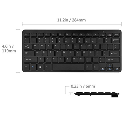 Black Wireless Mini Keyboard   Mouse Easy Control for Sony BRAVIA KDL50W706BSU Smart 50  LED TV Smart TV