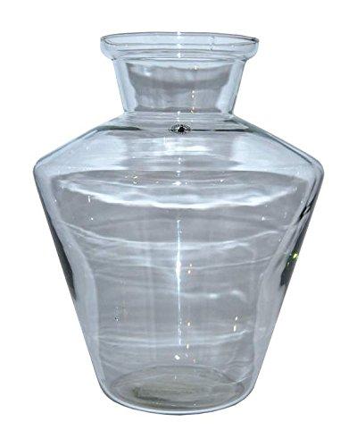 """IKEA Blumenvase \""""Betydande\"""" mundgeblasene Glasvase - 30 cm hoch - 23 cm breit - Klarglas - jedes Stück ein Unikat"""