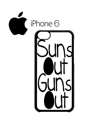 Suns Out Guns Out Summer Gym Muscle Swag Mobile Phone Case Back Cover Hülle Weiß Schwarz for iPhone 6 Black Weiß