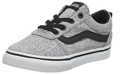 Vans Unisex Baby Ward Slip-on Canvas Sneaker, Grau ((Textile) Gray/White Qoq), 25.5 EU
