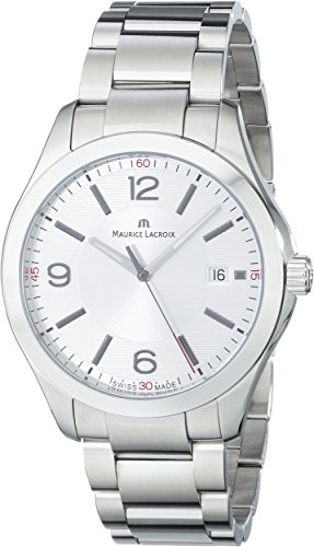 Maurice-Lacroix-Mens-Quartz-Watch-Miros-MI1018-SS002-130-with-Metal-Strap